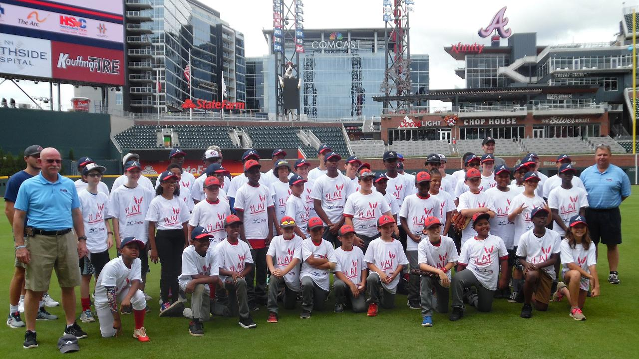 Braves lead youth to more active lifestyle