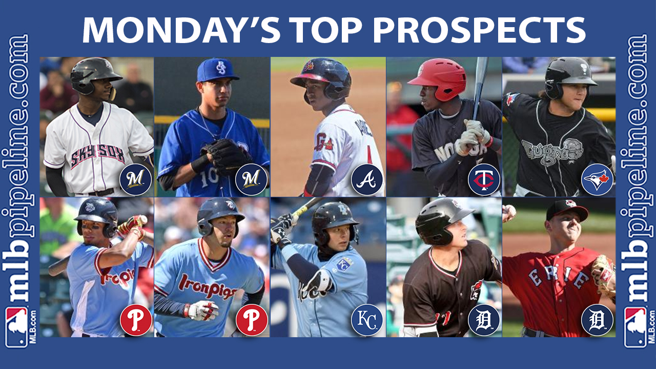 Monday's best: Brinson narrowly misses cycle in big game